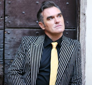 Morrissey: pinstriped and pained.